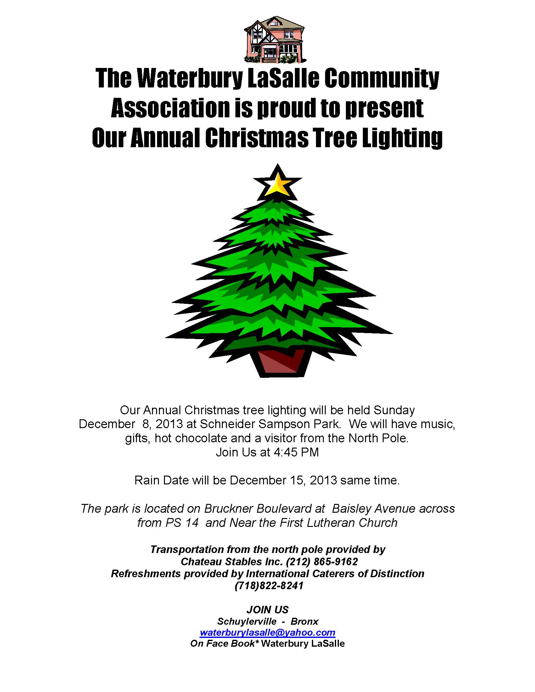 Waterbury LaSalle Community Association Annual Tree Lighting
