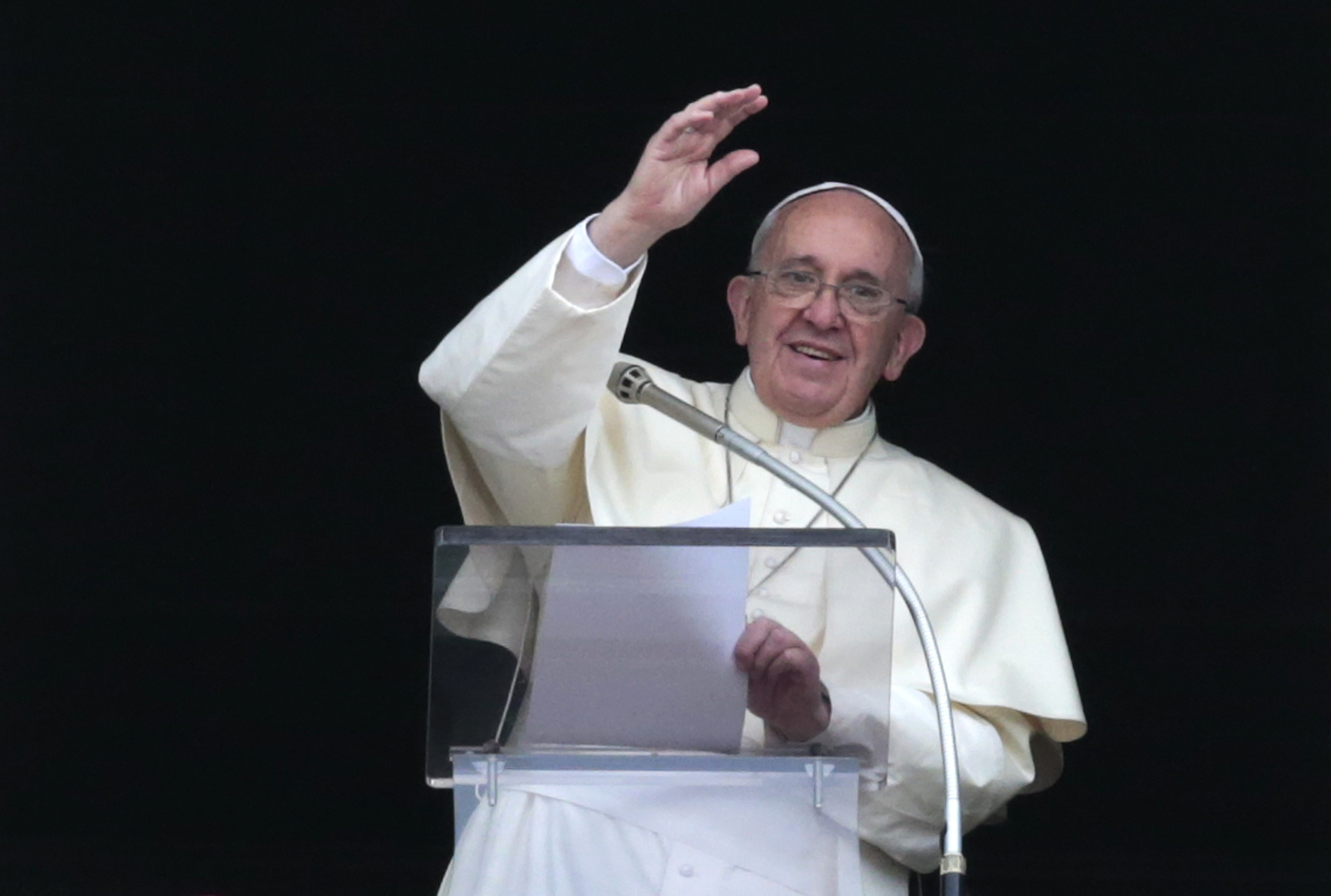 Pope Francis on Thursday denounced discrimination against Christians