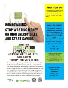 4Conservation Conversation Flyer bw