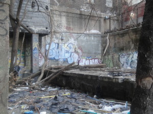 remnants of the Jerome/Anderson Avenue train station - Ninth Ave el - Bronx, NY, Feb 20, 2011