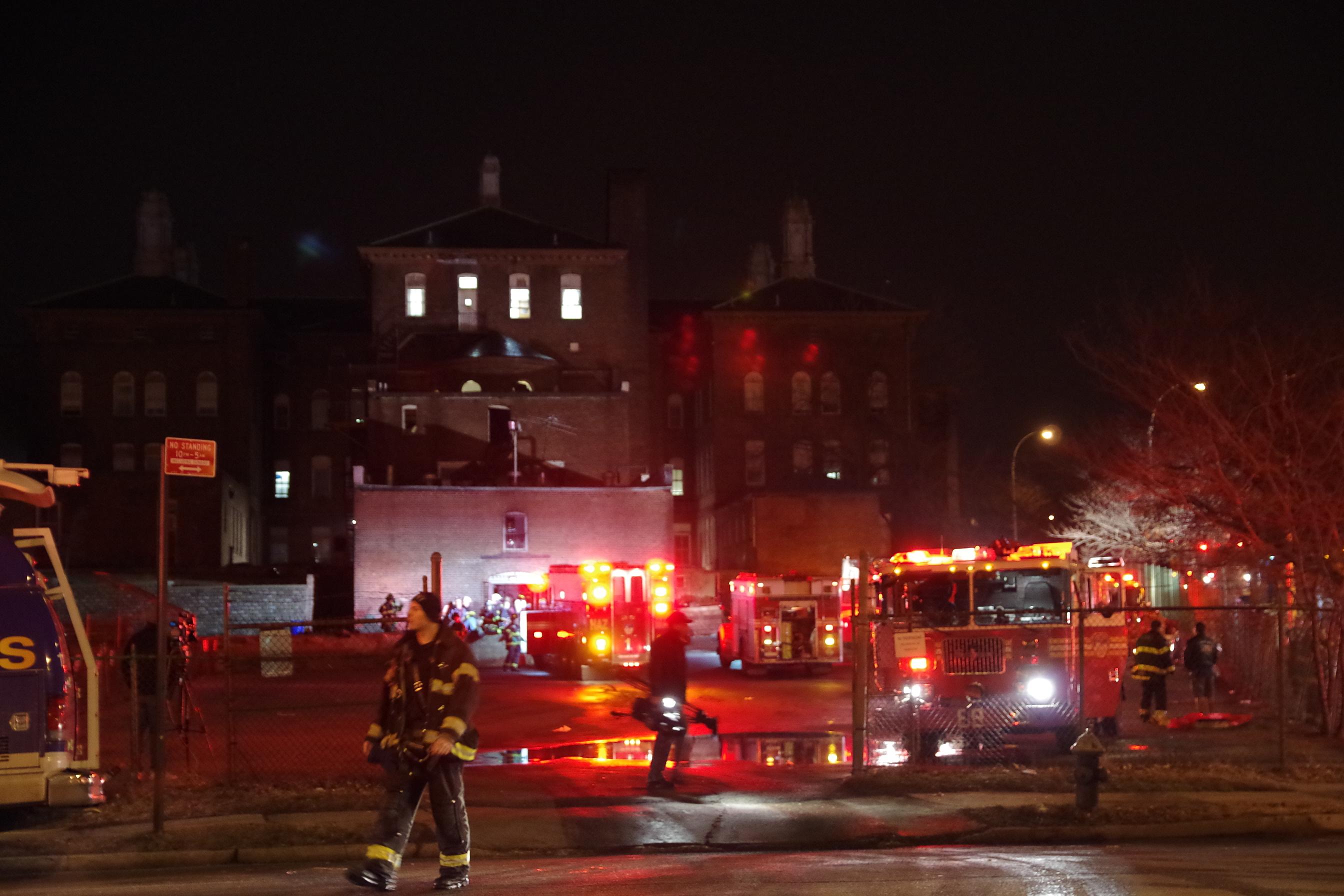 3-Alarm fire at Monsignor Scanlan High School