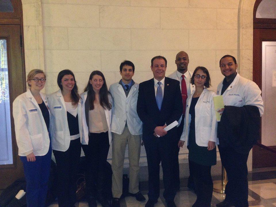 Einstein Med Students Meet With Assemblyman Gjonaj, Other State Legislators in Albany Trip