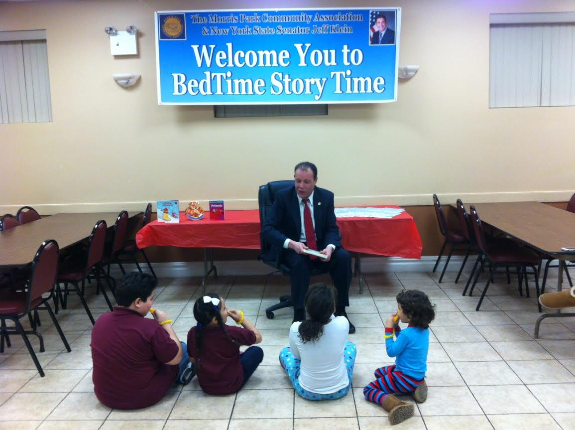 Jeff Klein sponsors Bed Time Story Time featuring Mark Gjonaj