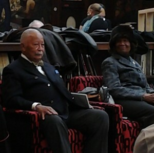 Former New York Mayor David Dinkins and NAACP President Hazel Dukes, Evander Childs HS, Feb 12. 2014