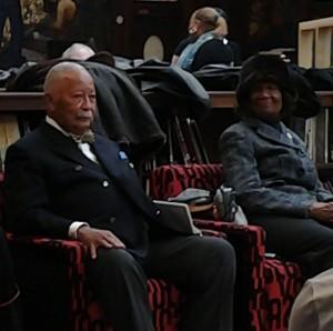 Former New York Mayor David Dinkins and NAACP President Hazel Dukes, Evander Childs HS, Feb 12. 2014