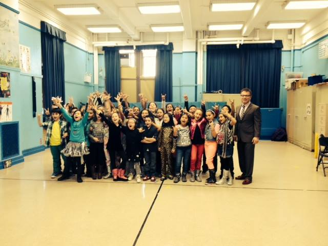 Councilman Vacca Visits PS 108 Theater Program