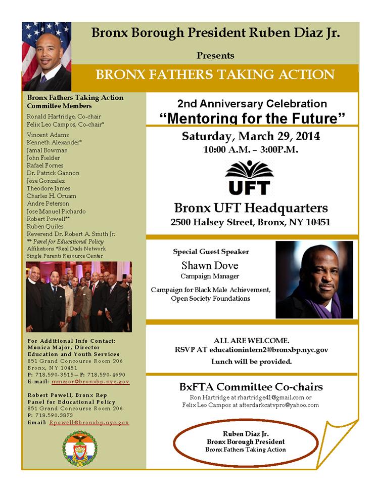"Borough President Presents ""Bronx Fathers Taking Action"""