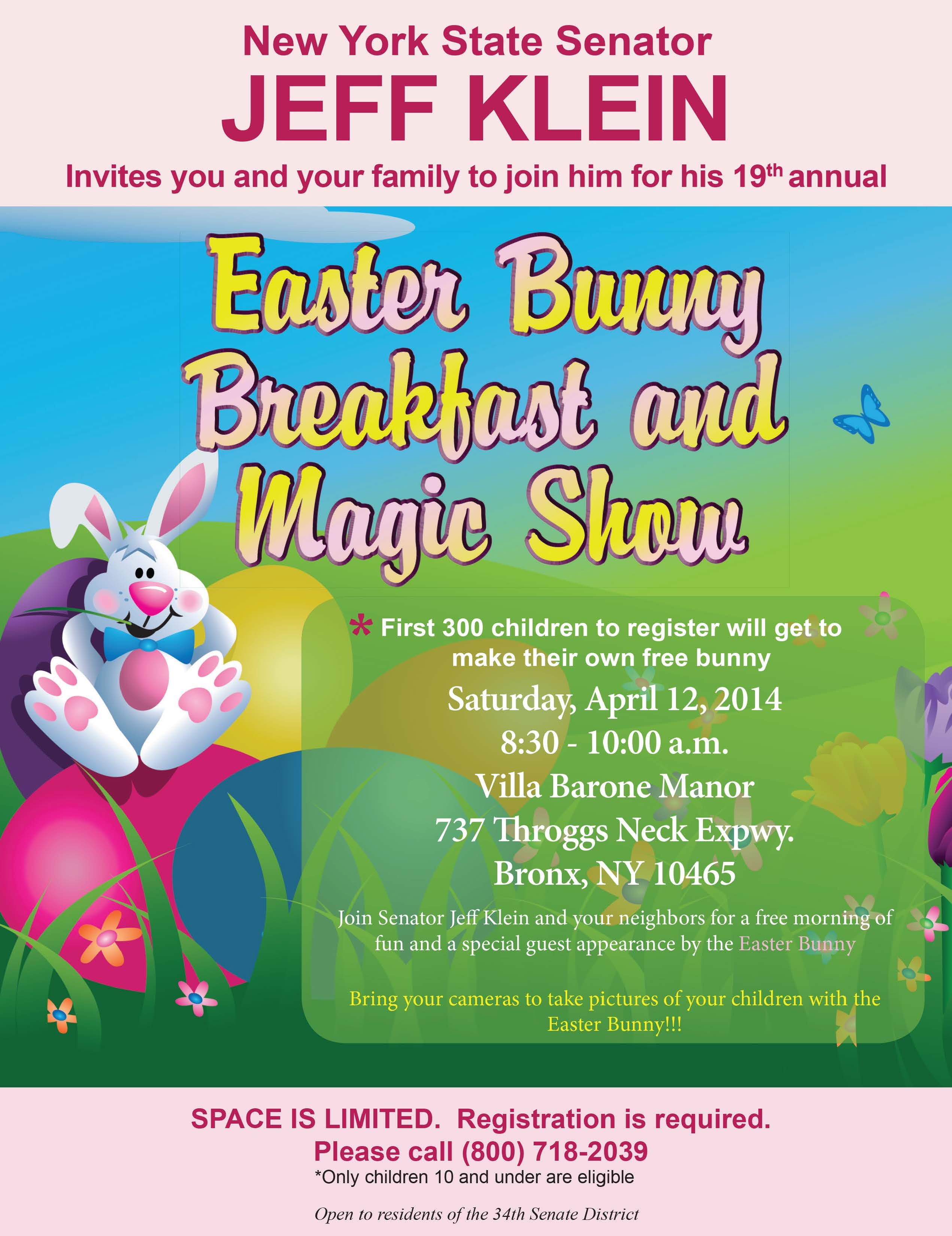 Easter Bunny Breakfast & Magic Show