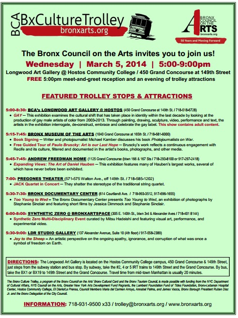 Bronx Culture Trolley Tonight