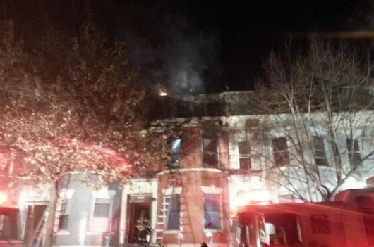 Fire Rages In Fordham Tuesday
