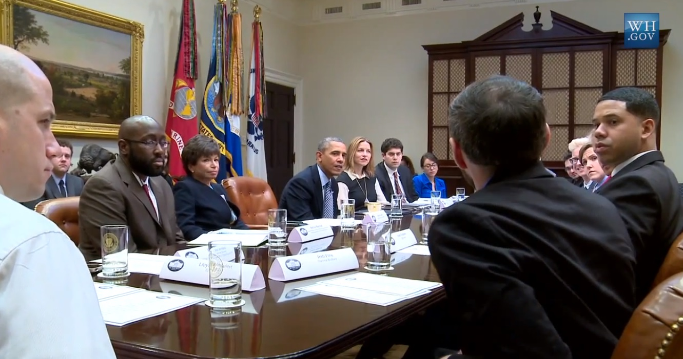 President Meets With Influential Youtube Creators To Learn About Social Media