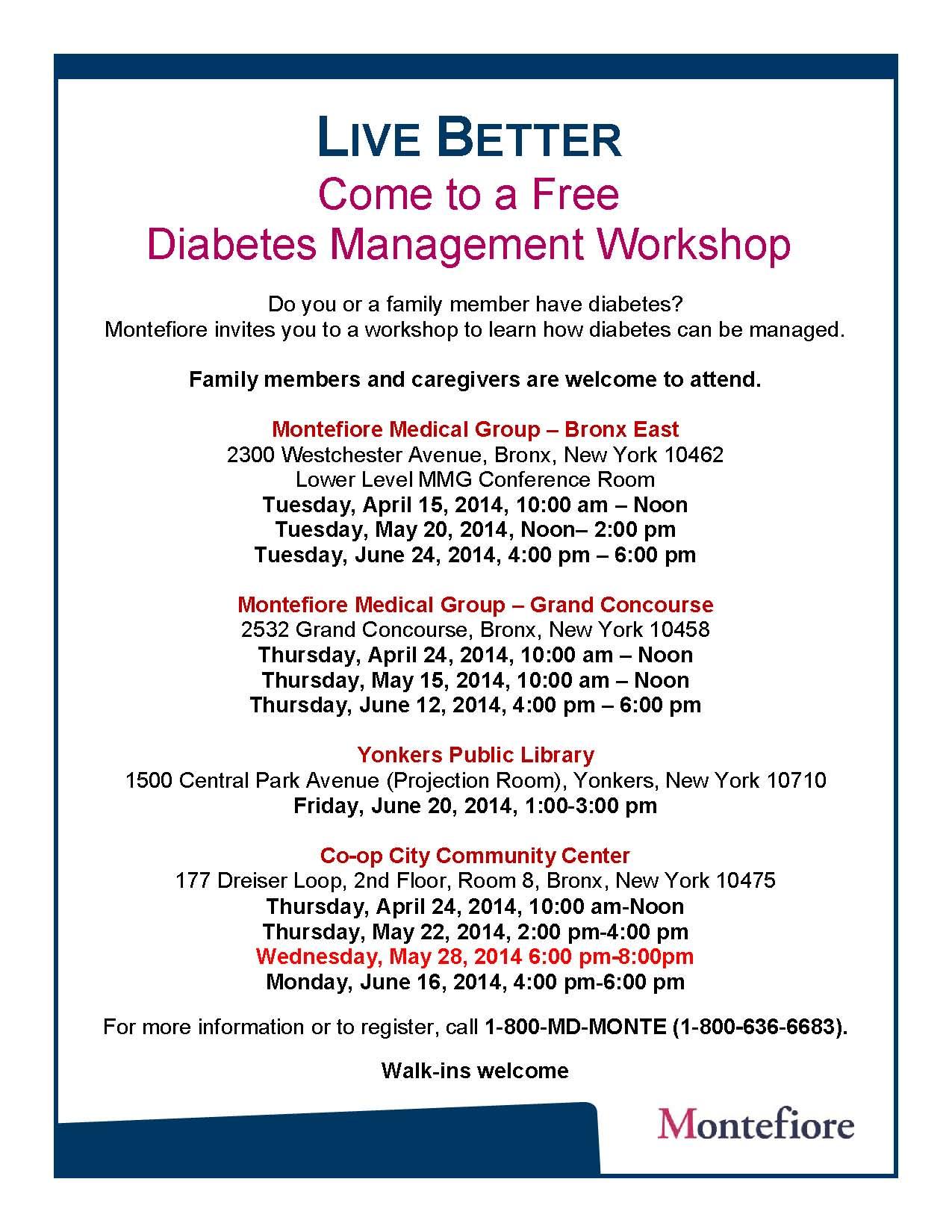 2nd Quarter_Diabetes Workshop Flyer_Eng
