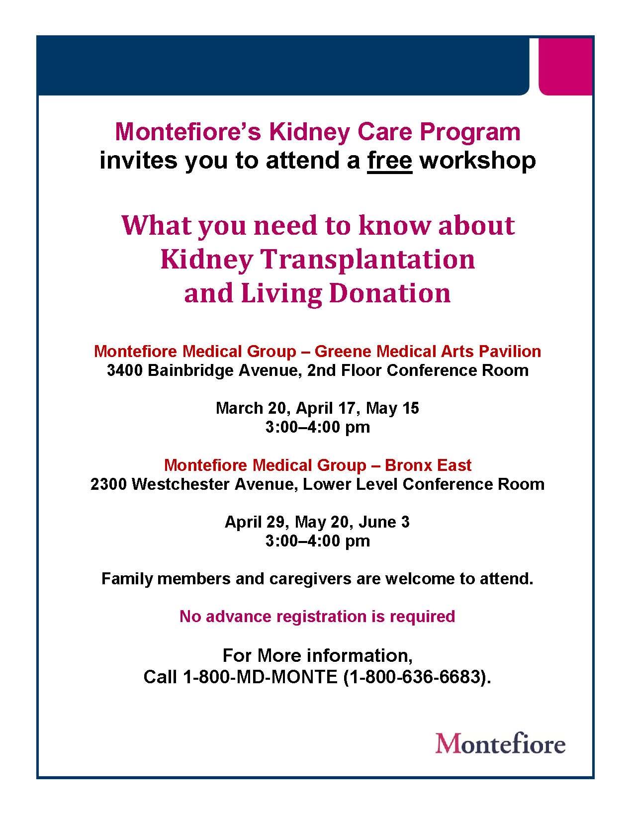 2nd Quarter_Kidney Transplant Workshop Flyer_English-1