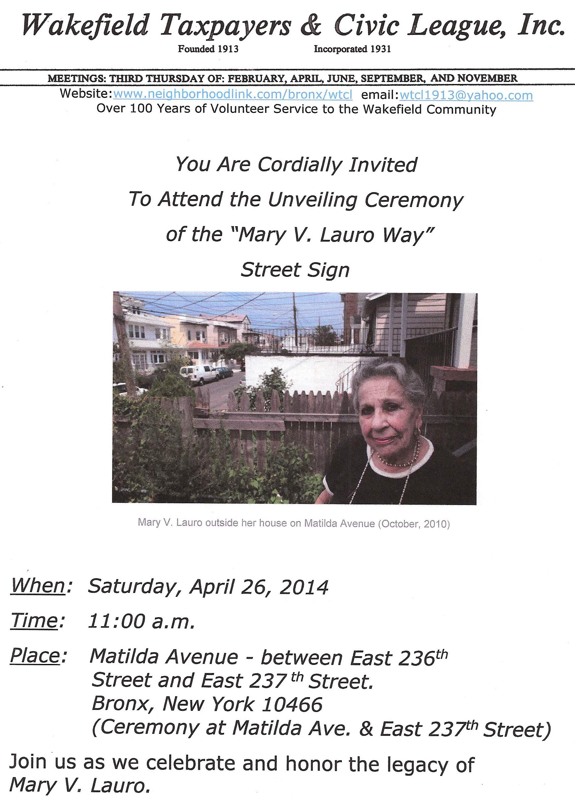 Mary V. Lauro Way - Street Sign Invitation_Page_1