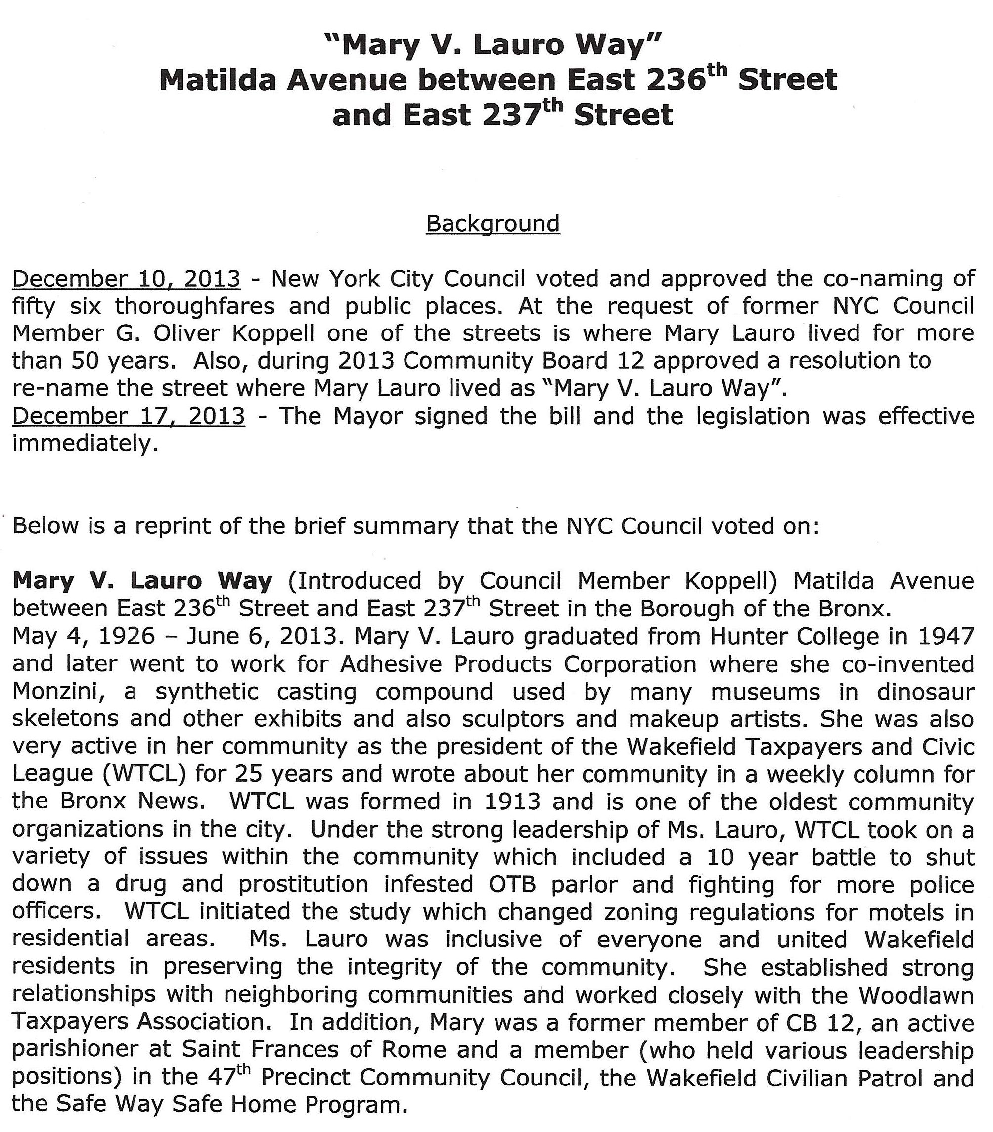 Mary V. Lauro Way - Street Sign Invitation_Page_2