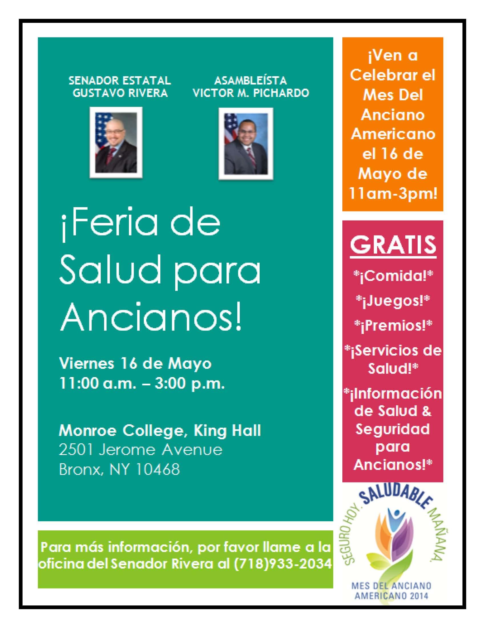 Job Fair, Senior Health Day & Legal Workshops