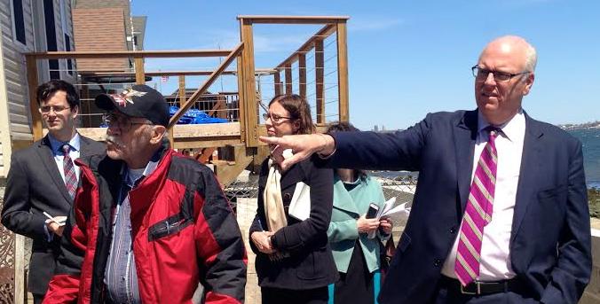 Congressman Crowley Tours Sandy-damaged Edgewater Park Homes