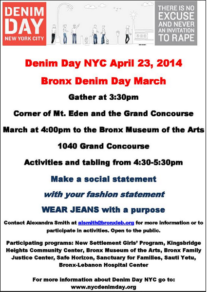 Denim Day Sexual Awareness Event In The Bronx Next Week