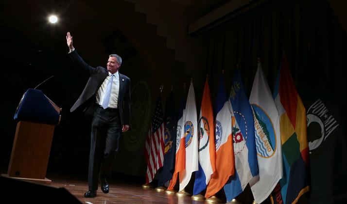 Mayor's 100 Days Speech Sees City As Progressive Beacon