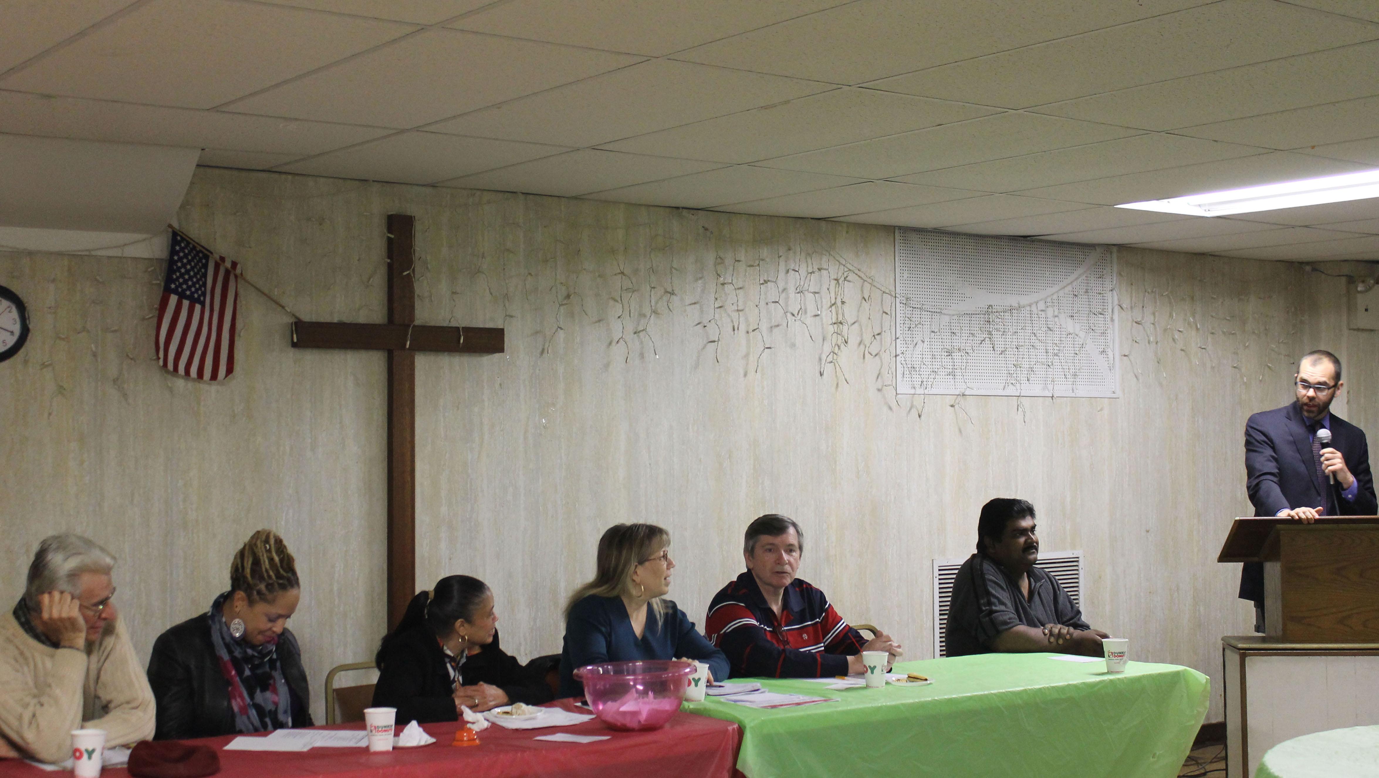 District Manager of Community Board 11 Jeremy Warneke addresses VNNA