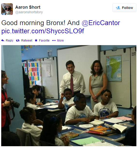 Congressional Majority Leader Visits Parkchester Charter School Today