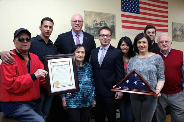 Congressman Crowley Honors Late WWII Veteran and Advocate Lou Durante Pelham Bay Resident