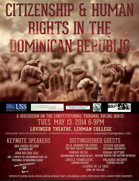 Dominican Republic Human Rights Discussion at Lehman Next Week