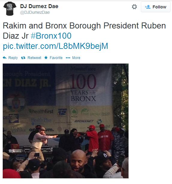 Rapper Rakim Rocks Bronx Parade Concert
