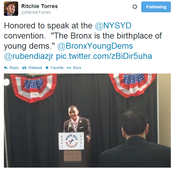 Councilman Torres Speaks At NYS Young Democrats Convention In Yonkers