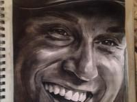 Jeter Mural at the Street Fair