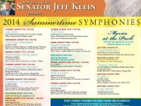 Senator Klein's upcoming Summer Symphonies and Movies at the Park.