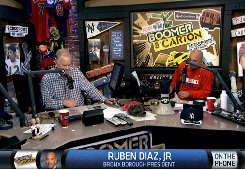 BP Diaz On WFAN's Boomer And Carton Friday