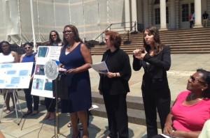 Left to Right: Public Advocate, Letitia James; CIDNY Executive Director, Susan Dooha; Interpreter; CIDNY Voting Rights Coordinator, Monica Bartley Photo c/oCIDNY