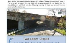 Important Notice – Southbound Hutchinson River Parkway under Pelham Parkway