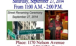 Street Renaming Ceremony for the Late Bishop Wenzell P. Jackson