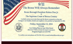 9/11 – The Bronx Will Always Remember