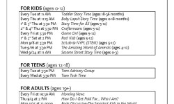 Pelham Parkway-Van Nest Library Events – September 2014