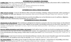 City Island Library Events for September 2014