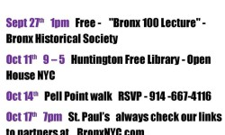 The East Bronx History Forum Upcoming Events