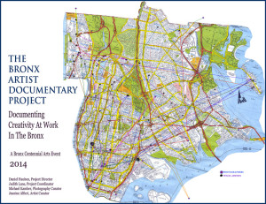 A map showing the connections between artists and photographers in the Bronx. Photo c/o The Bronx Artist Documentary Project
