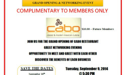 CABO Restaurant Grand Opening & Networking Event
