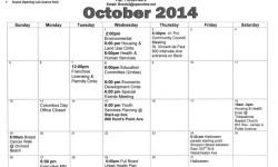 Community Board #2 October Meetings Calendar