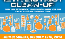 Please Join us Sunday for the 12th District Clean-up