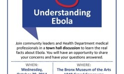 WEDNESDAY-TOWN HALL DISCUSSION ON EBOLA