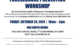 NHS Foreclosure Prevention Workshop – Friday, Oct 24, 10am-2pm