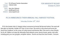 PS 14 Annual Fall Festival