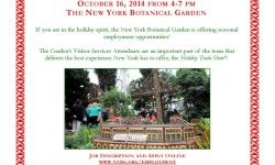 Job Open House, October 16, The New York Botanical Garden Holiday Train Show