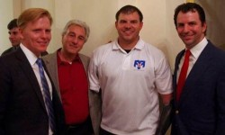 Left to right: Ned Vaughn, Marc Baron, Travis Mills with Gene DeFrancis at the Washington DC GI Film Festival.
