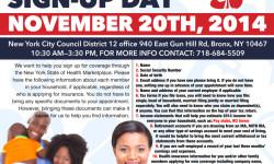 Affordable Healthcare Enrollment Sign-up Day