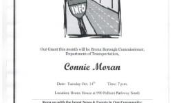 Pelham Parkway Neighborhood Association October 14th meeting